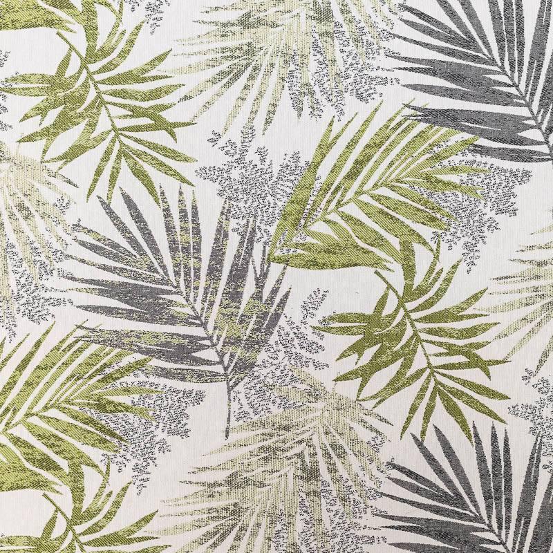 Coupon 50x68 - Jacquard jungle excelsa vert et gris