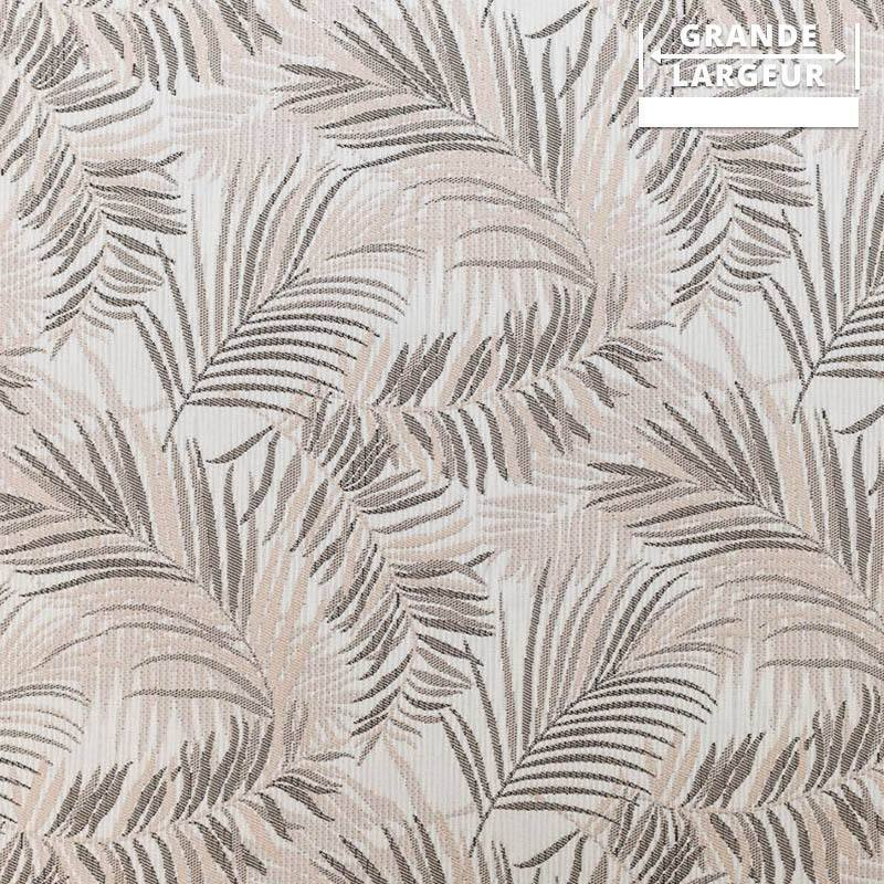 Coupon 50x67 - Jacquard jungle tibal beige et gris