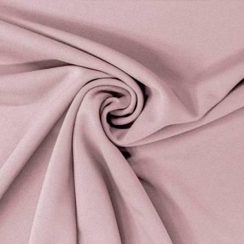 coupon - Coupon 45cm - Tissu scuba crêpe vieux rose