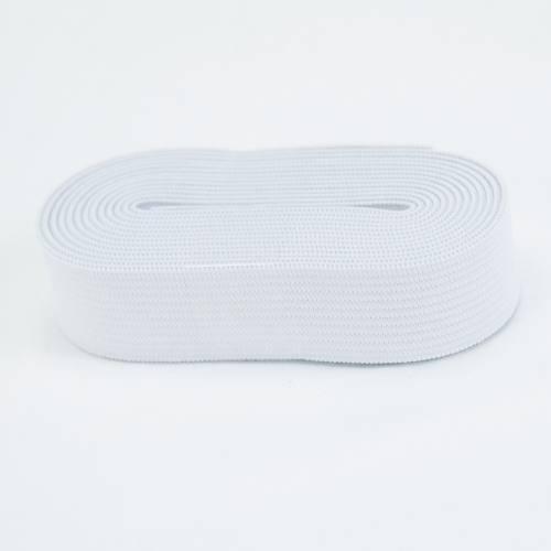 Coupon 2m50 élastique souple blanc 20 mm