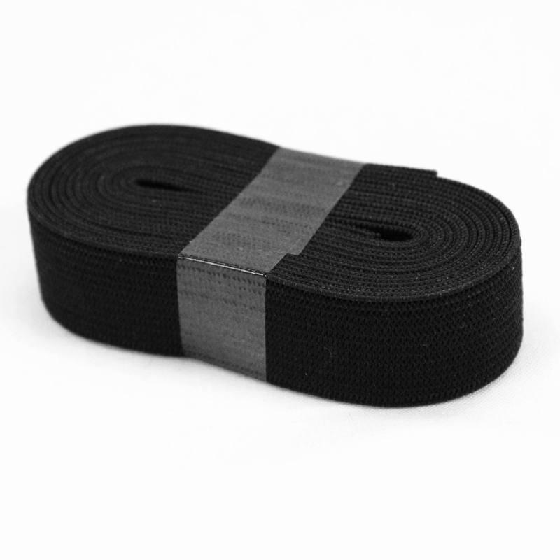 Coupon 2m50 élastique souple noir 25 mm