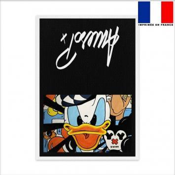 Kit pochette canvas motif duck - Création Anne-Sophie Dozoul