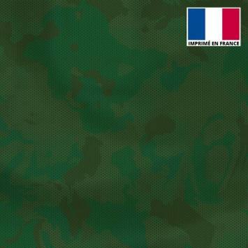 Lycra motif alvéoles et nuances de vert