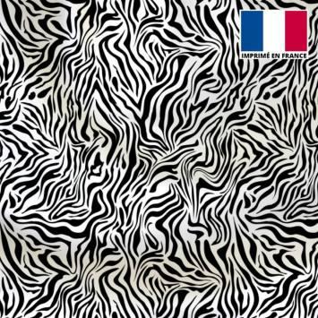 Lycra imprimé zèbre noir et blanc
