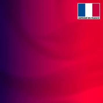 Lycra imprimé dégradé rouge et violet