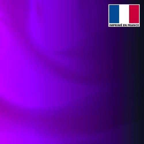 Lycra imprimé dégradé violet et noir