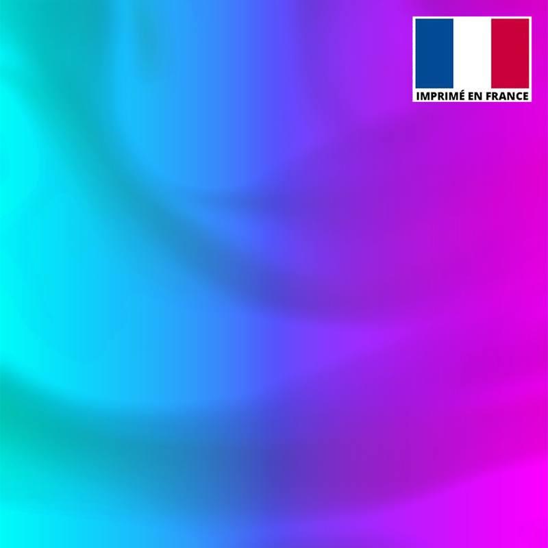 Lycra motif dégradé violet à bleu clair