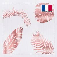 Coupon 45x45 cm toile canvas feuilles tropicales rose gold
