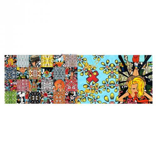 Coupon éponge pour lingettes démaquillantes motif street pop - Création Anne-Sophie Dozoul
