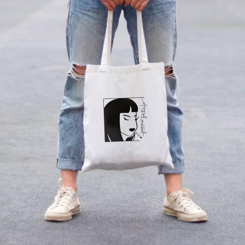 Coupon 45x45 cm toile canvas femme fatale