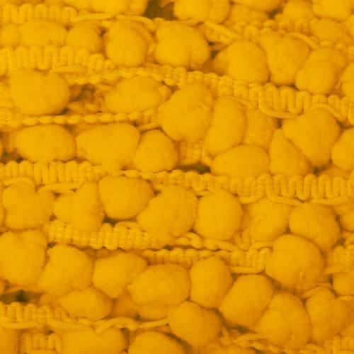 Galon pompon 15 mm jaune