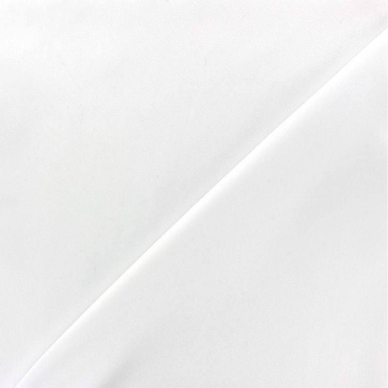 Tissu microfibre uni blanc