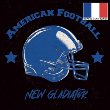 Coupon 45x45 cm toile canvas brune motif american football