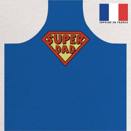 Kit canvas pour tablier motif super dad