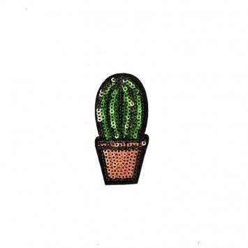 Écusson à sequins cactus vert