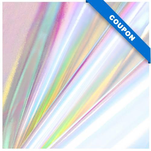 Coupon 50x68 cm - Simili cuir Laser holographique