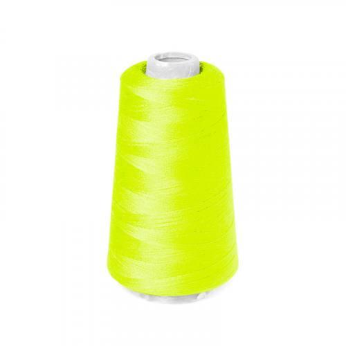 Cône de fil à surfiler et à coudre jaune fluo