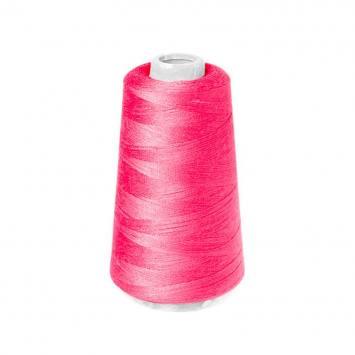 Cône de fil à surfiler et à coudre rose fluo