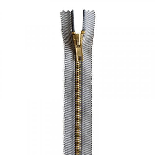 Fermeture jean clair en métal doré 16 cm col 997