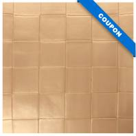 Coupon 50x68 cm - Simili nacré couleur beige à carreaux en relief