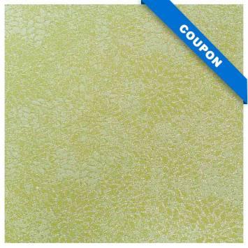 Coupon 50x68cm - Tissu jacquard vert avec fil argenté