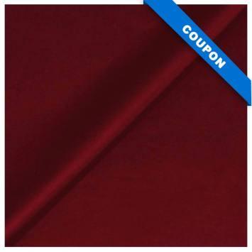 Coupon 50x68cm - Simili touché cuir mat rouge bourgogne