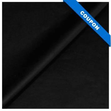 Coupon 50x68cm - Simili touché cuir mat noir