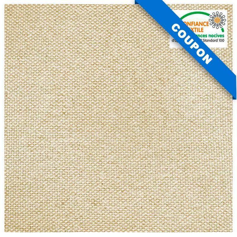 Coupon 50x134 cm - Toile coton épaisse naturelle