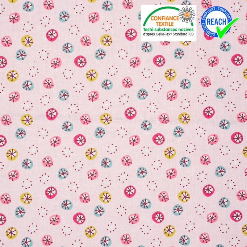 Coton rose motif jarvi