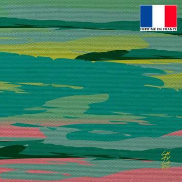 Coupon 45x45 cm toile canvas Vivre - Fond - Création Chaylart