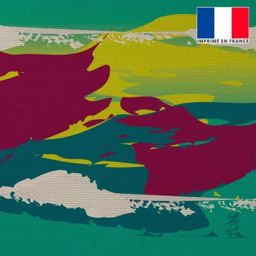 Coupon 45x45 cm motif Ressentir - Fond - Création Chaylart