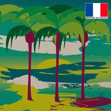 Coupon 45x45 cm motif Plage des Palmiers - Création Chaylart