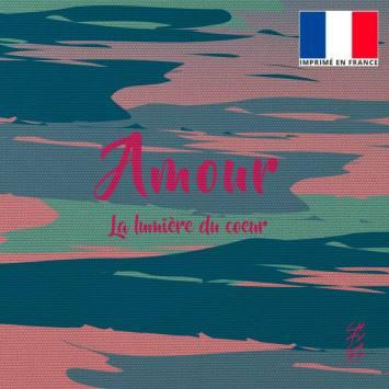 Coupon 45x45 cm motif Amour - Création Chaylart