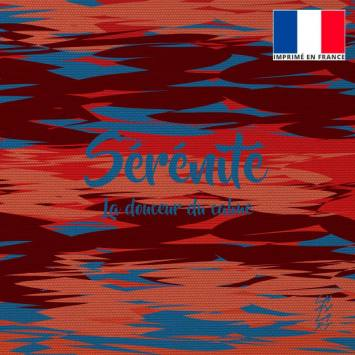 Coupon 45x45 cm motif Sérénité - Création Chaylart