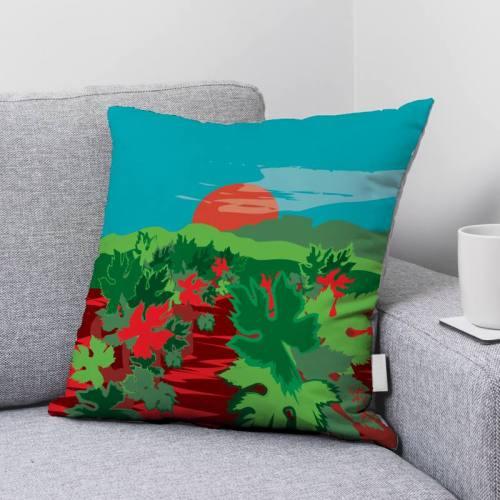 Coupon 45x45 cm motif Vignes au Soleil - Création Chaylart