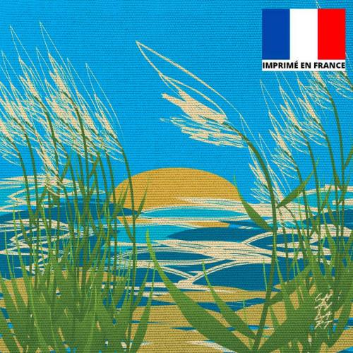 Coupon 45x45 cm toile canvas Plage du Rayolet - Création Chaylart