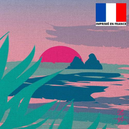 Coupon 45x45 cm toile canvas Les 2 Rochers - Création Chaylart
