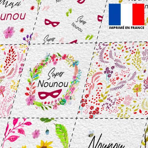 Coupon éponge pour lingettes démaquillantes motif nounou flowers