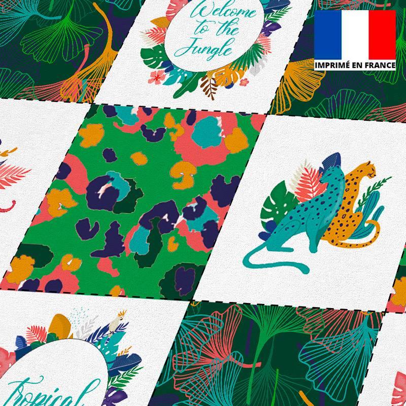 Coupon éponge pour lingettes démaquillantes motif jungle léopard