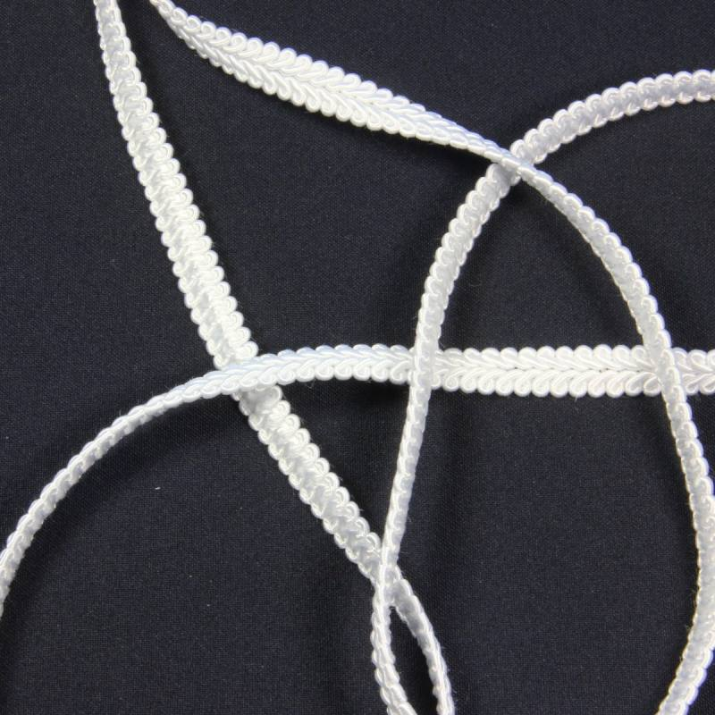 Ruban tressé blanc 10 mm