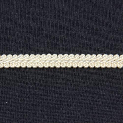 Ruban tressé ivoire 10 mm
