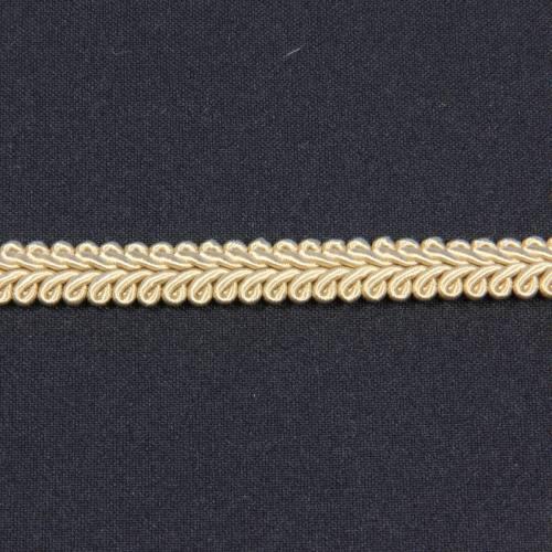 Ruban tressé beige 10 mm