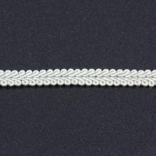 Ruban tressé gris clair 10 mm