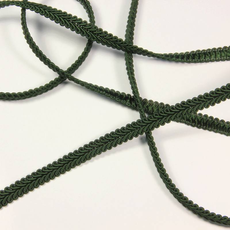 Ruban tressé vert sapin 10 mm