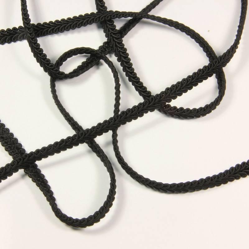 Ruban tressé noir 10 mm
