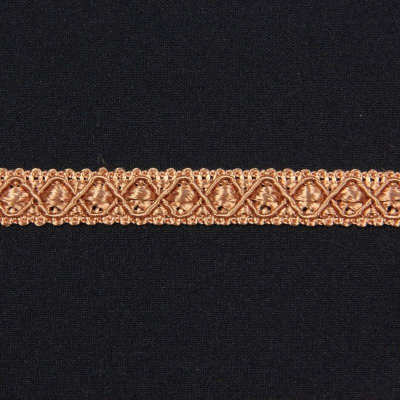 Ruban 12 mm noisette à motifs