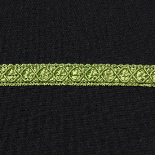 Ruban 12 mm vert à motifs