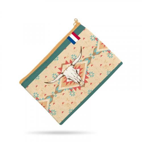 Kit pochette canvas motif boho indien