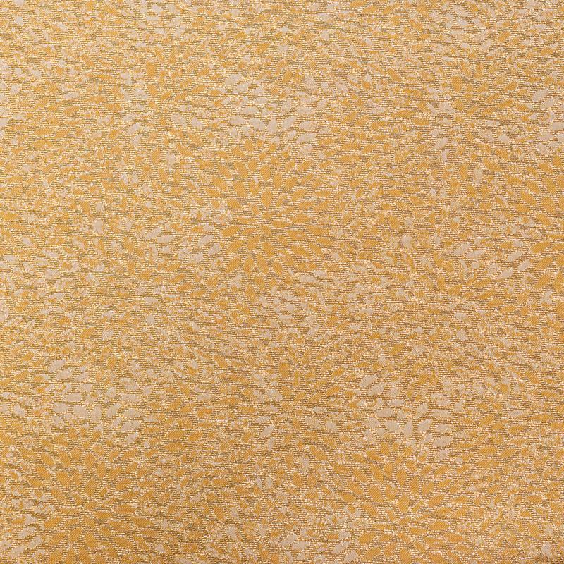 Coupon 50x68 cm - Tissu jacquard ocre avec fil argenté