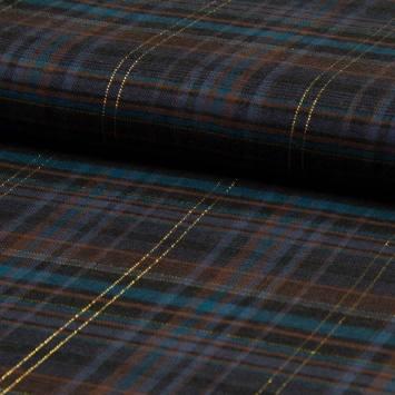 Tissu tartan écossais avec fil doré